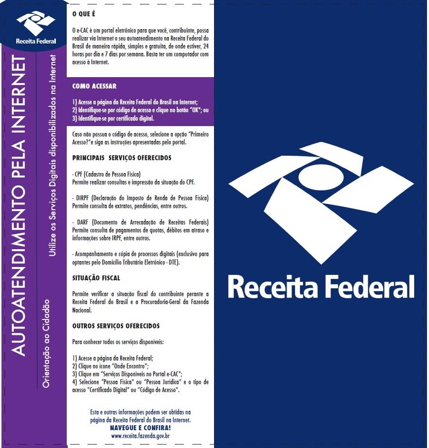 AUTOATENDIMENTO PELA INTERNET- RFB
