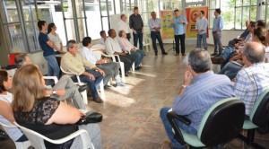Responsável pela Unidade de Educação Fiscal presente na abertura da campanha contra o Mosquito Aedes Egypt, na Sefaz/MS.