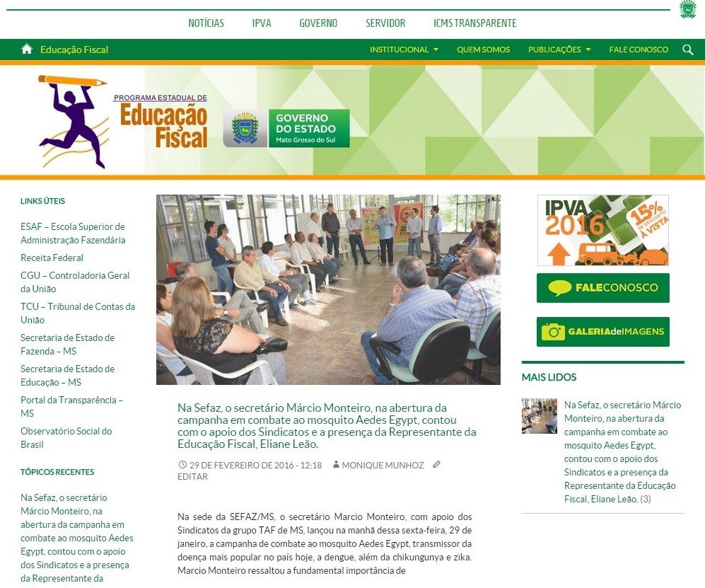 site da educação fiscal